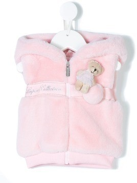 Lapin House faux fur teddy gilet - Pink & Purple