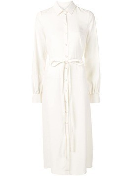 Co belted midi shirt dress - White