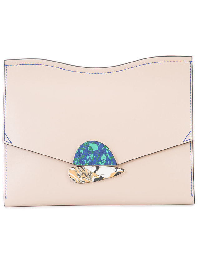 Proenza Schouler Medium Curl Clutch - Nude & Neutrals