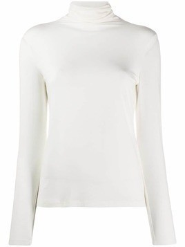 Antonelli roll-neck knitted top - White