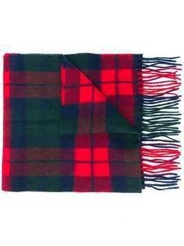 Barbour new check print scarf - Red