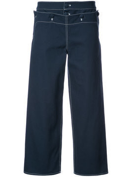 Harvey Faircloth Sailor cropped trousers - Blue