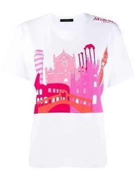 Mr & Mrs Italy city print T-shirt - White