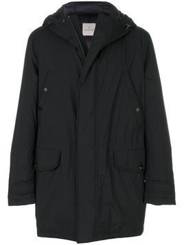 Moncler padded parka coat - Blue