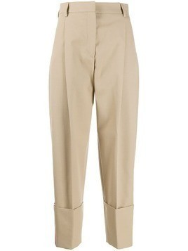 Hilfiger Collection striped cropped trousers - Neutrals