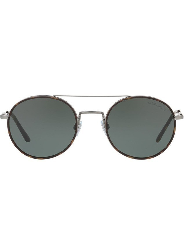 Giorgio Armani round frame sunglasses - Brown