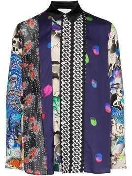 Koché mixed-print panelled shirt - Multicolour
