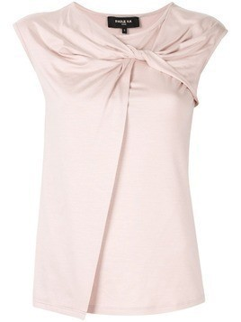 Paule Ka sleeveless fitted top - PINK
