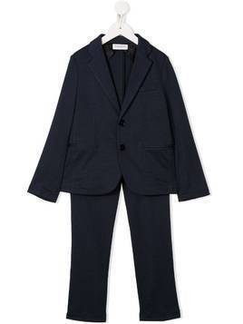 Paolo Pecora Kids micro-check print two-piece suit - Blue