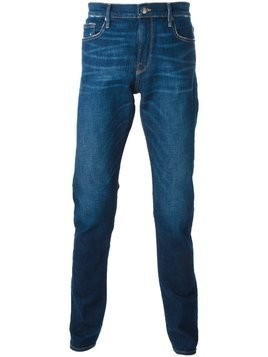 Frame Denim distressed straight fit jeans - Blue