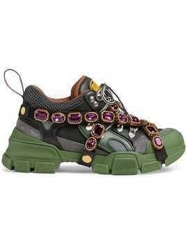 Gucci Flashtrek sneakers with removable crystals - Green