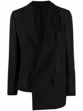 Y's asymmetric blazer jacket - Black