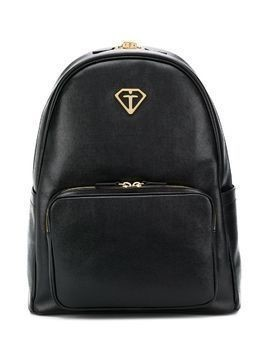 Gallucci Kids textured logo backpack - Black