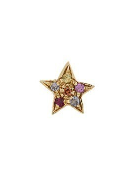 Carolina Bucci 18kt gold star stones earring