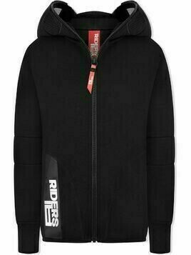 AI Riders On The Storm TEEN zipped lens hoodie - Black