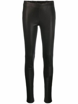 Arma leather skinny trousers - Black