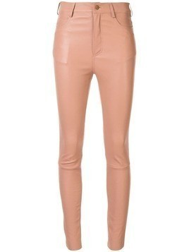 Drome skinny leather trousers - Neutrals