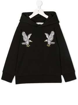 Stella Mccartney Kids eagle print hoodie - Black