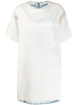 Mm6 Maison Margiela bleached denim T-shirt dress - White