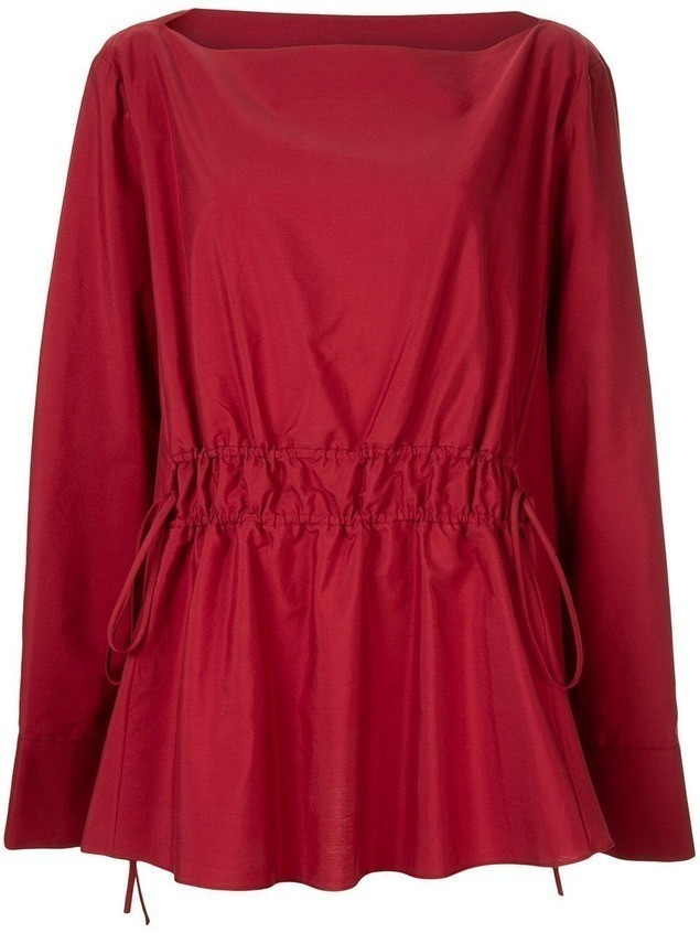 Marni boat neck blouse - Red