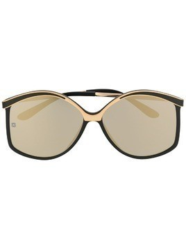 Elie Saab structured sunglasses - Black