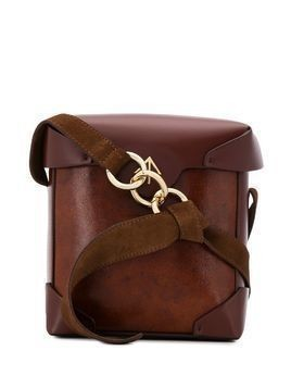 Manu Atelier Mini Pristine cross body bag - Brown