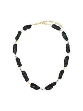 Anni Lu 18K gold-plated black rock sea pearl choker