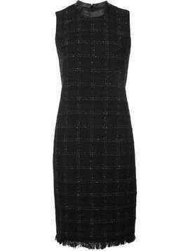Akris Punto checked fitted dress - Black