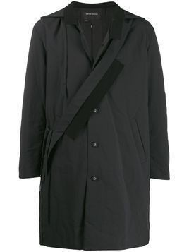 Craig Green hooded asymmetric front parka - Black