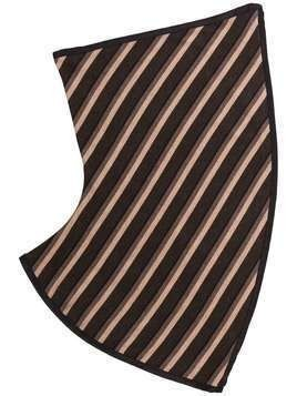 Kiko Kostadinov striped gaitor scarf - Brown