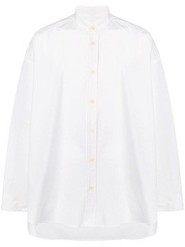 Damir Doma collarless button-down shirt - White