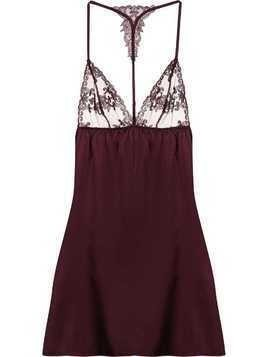 Fleur Of England Babydoll slip dress - PURPLE