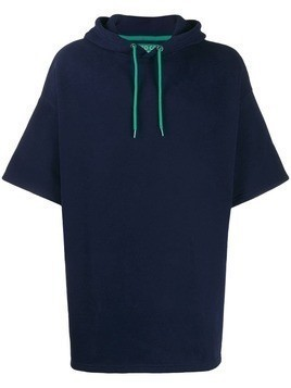 Benetton wide-sleeve oversized hoodie - Blue