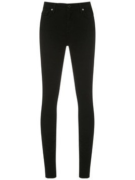 7 For All Mankind THE HIGH WAIST SKINNY - Black