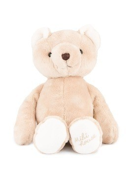 Miki House logo embellished teddy bear - Brown