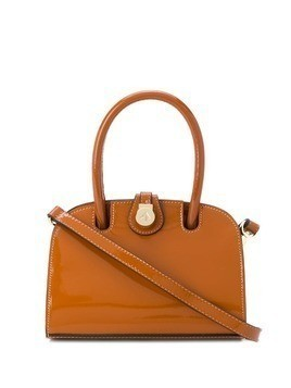 Manu Atelier logo mini tote bag - Brown