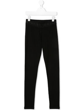 Dkny Kids TEEN logo waistband leggings - Black
