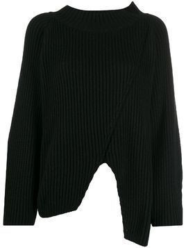 20:52 chunky knit jumper - Black