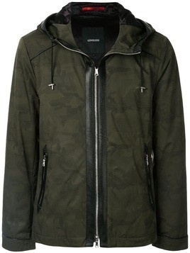 Loveless camouflage print hooded jacket - Green