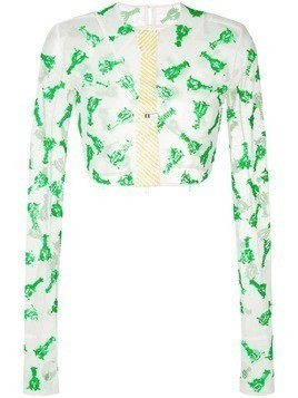 Thom Browne Trompe L'Oeil Lobster Sequin Shirt - White