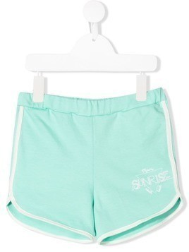 Bandy Button Sunrise track shorts - Blue