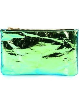 Zilla glossy iridescent zip purse - Green