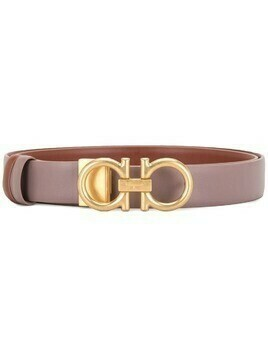 Salvatore Ferragamo gold buckle belt - PURPLE