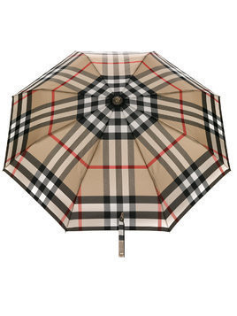 Burberry Check Folding Umbrella - Grey
