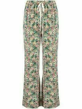 See by Chloé high-rise floral-print flared trousers - Green