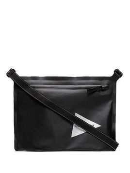 and Wander printed logo shoulder bag - Black