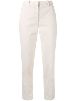 Aspesi slim fit trousers - White