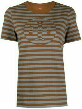 Tory Burch striped T-shirt - Brown