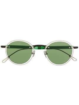 Jacquemus contrasting frame rounded sunglasses - Green