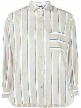 Barba striped button-up shirt - Neutrals